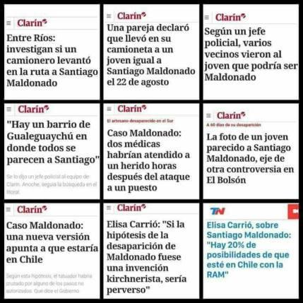 clarin y sus pistas falsas